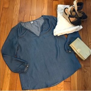 Old Navy TENCEL Chambray Blouse